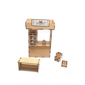 TEADDICT 茶檔3D木模型