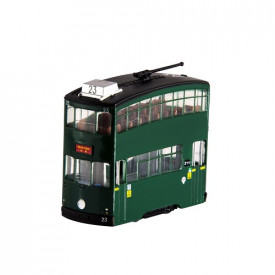 HK Tramways Plastic Toy Green Tram with pull-back function