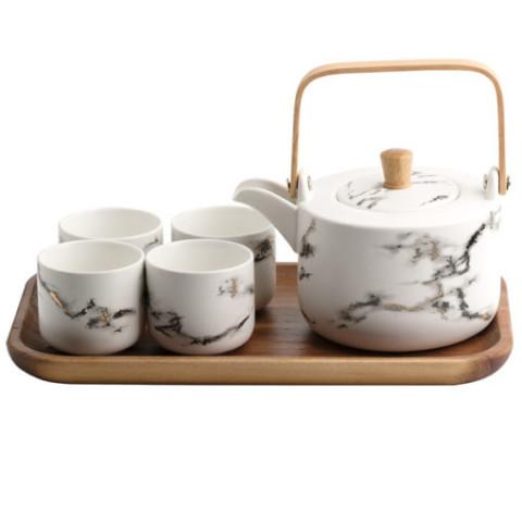 Marble Ceramic Teaset