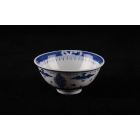 Blue & White China Mountains Curve Edge Bowl 3.5 inches