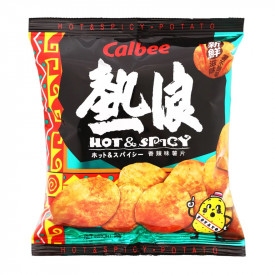 Calbee Hot & Spicy Flavoured Photo Chips 55g