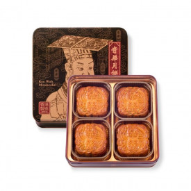 Kee Wah Bakery White Lotus Seed Paste Mooncake with Two Yolks 4 pieces