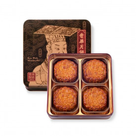 Kee Wah Bakery Red Bean Paste Mooncake with Two Yolks 4 pieces