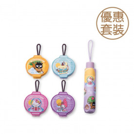 Kee Wah Bakery Sanrio characters Egg Custard Mooncake 4 pieces with UV Umbrella