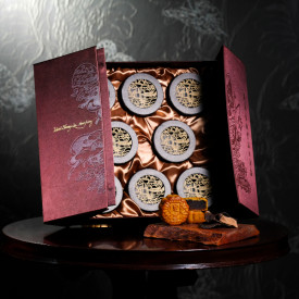 Island Shangri-La Hotel Hong Kong Red bean paste mooncakes with 60 year dried tangerine peel 8 pieces