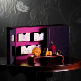 Island Shangri-La Hotel Hong Kong Red bean paste mooncakes with rare 80 year dried tangerine peel collector gift box 8 pieces