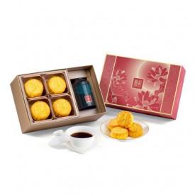 The Peninsula Hong Kong Egg Custard Mini Mooncake, Chinese Fine Tea Gift Box