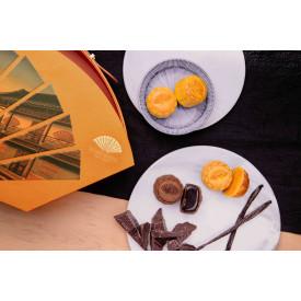 Hong Kong Mandarin Oriental Mini Assorted Mooncakes Egg Custard, Chocolate Lava and Vanilla Custard Flavour 6 pieces