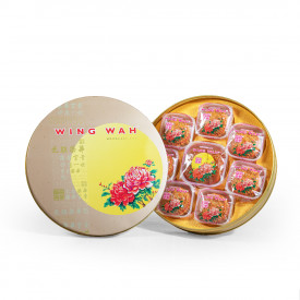 Wing Wah Cake Shop White Lotus Seed Paste Mooncake with Yolks 8 pieces