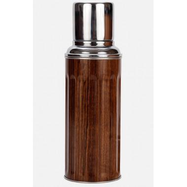 Camel 112 Vacuum Flask 450ml Wood Grain Pattern
