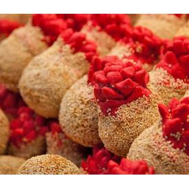 Chan Yee Jai Pomegranate Flower Shape Sesame Ball 1 piece