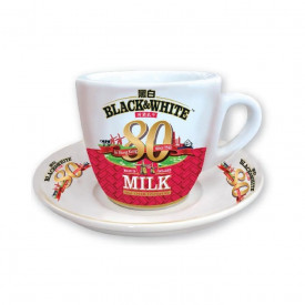 Black & White 80th Anniversary Version Tea Cup with Saucer