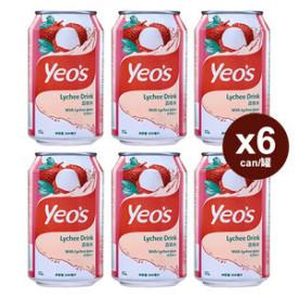 ヨーヒャップセン ライチ飲料 300ml × 6缶