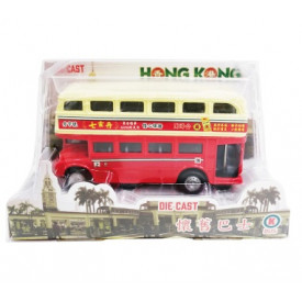 Sun Hing Toys Hong Kong Old Bus Red Color 16cm x 9cm x 7cm