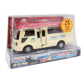 Sun Hing Toys Hong Kong Red Public Minibus with Sound & Bright Flashing Light 16.2cm x 9.5cm x 6.7cm
