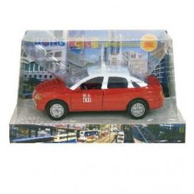Sun Hing Toys Hong Kong Taxi Red Color 16cm x 9.5cm x 7cm
