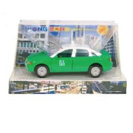 Sun Hing Toys Hong Kong Taxi Green Color 16cm x 9.5cm x 7cm