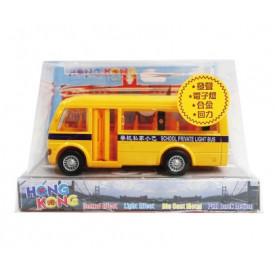 Sun Hing Toys Hong Kong School Bus with Sound & Bright Flashing Light 14cm x 8.3cm