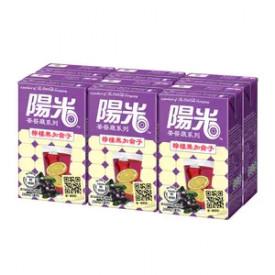 陽光 檸檬黑加侖子汁 250毫升 x 6包