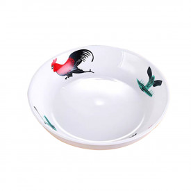 Chicken Pattern 9 inch Soup Dish 2 pieces