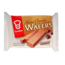 Garden Mini Cream Wafers Chocolate Flavoured 34g