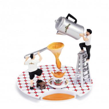 黑白淡奶 微縮模型 港式奶茶技藝套裝